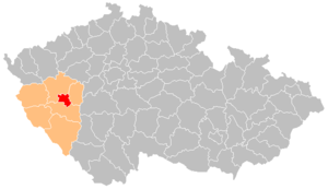 District location in the پلزن اوستانی within the Czech Republic