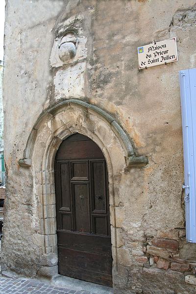 Olargues (Hérault) - maison du prieur de Saint-Julien.