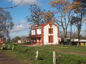 Joaquín Suárez (town) - Image: Old Train Station Suarez Uruguay