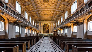 Greenwich Hospital, London - Chapel, as refitted by James Stuart after a fire