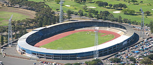 Green Point Stadium - Aerial view of the Old Green Point Stadium, which was demolished during 2007.