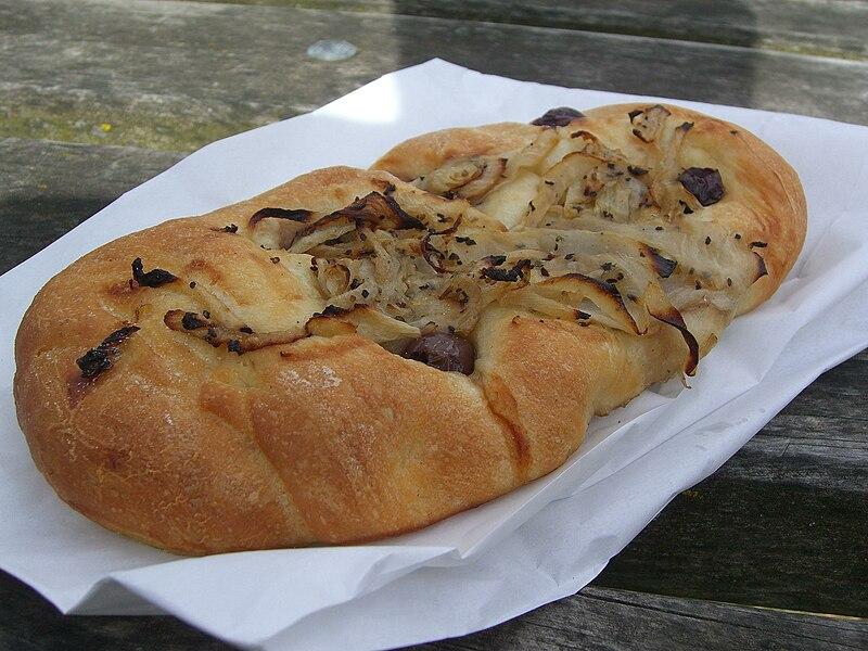 File:Olive and Onion Foccacia - Amici Bakery - Jells Park Farmers Market AUD3.jpg