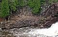 Olivine tholeiite basalt lava flow at Gooseberry Falls - Upper Falls (Gooseberry River Basalts, North Shore Volcanic Series, Mesoproterozoic, 1097-1098 Ma; Gooseberry Falls State Park, Minnesota, USA) (22322482538).jpg