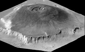 Mons (planetary nomenclature) - Image: Olympus Mons 3D