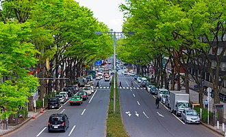 Omotesandō - Omotesandō street as seen from an overpass