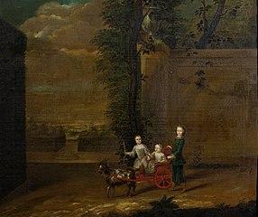 Godard Adriaan van Reede (1716-1736), derde Graaf van Athlone, Frederik Willem van Reede (1717-1747), vierde Graaf van Athlone, en Ursula Christina Reiniera van Reede (1719-1747) (kinderen van Frederi