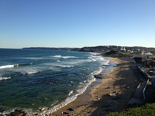 One of the Beautiful Beaches of Newcastle, NSW in Australia
