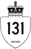 Highway 131 shield