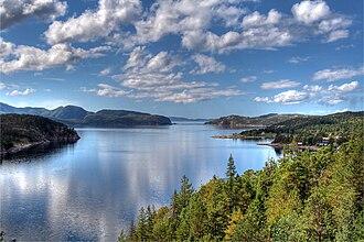 Nærøy - View of the Opløfjord in Nærøy