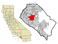 Orange County California Incorporated and Unincorporated areas Santa Ana Highlighted.svg
