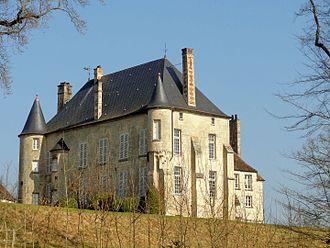 Château d'Orrouy - Image: Orrouy (60), château, vue depuis le sud ouest 3