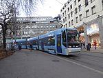 Oslo tram line 17 on Kirkeristen 01.jpg
