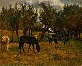 Otakar Lebeda (1877-1901) - Koně na pastvě.jpg
