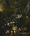 Otto Marseus van Schrieck - Forest floor still-life with flowers and animals.jpg