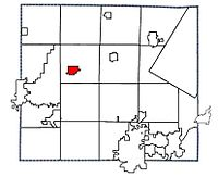 Location of Shiocton, Wisconsin in Outagamie County