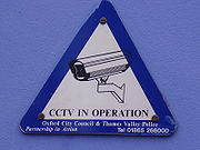 Closed-circuit television sign
