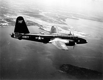 Lockheed P-2 Neptune - P2V-2 of VP-18 over NAS Jacksonville, 1953
