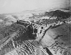 Margat - Aerial photograph of Margat, taken in the 1930s