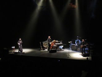 Let England Shake - PJ Harvey and her band playing at the Royal Albert Hall in London on 31 October 2011