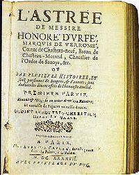 Page de garde d'une édition de L'Astrée du XVIIe siècle.jpg