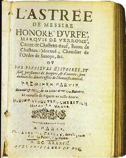 <i>LAstrée</i> novel by Honoré dUrfé