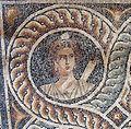 Palazzo dei gran maestri di rodi, sala delle muse, mosaico delle nove muse da kos 01 clio.JPG