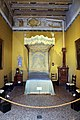 Palazzo pfanner, alcova con letto a baldacchino del xvii secolo 02.jpg