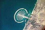 صورة علوية لجزيرة النخلة في دبي