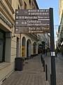 Panneaux d'indication rue Saunière (Valence).jpg
