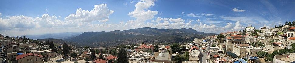 Panorama Safed and Mount Meron