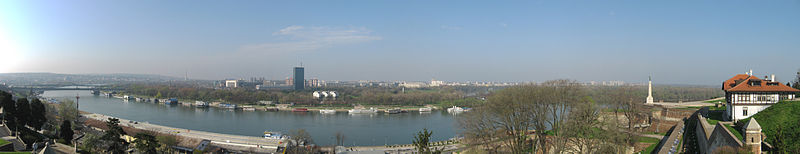 Panorama of Belgrade from Kalemegdan fortress.jpg