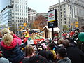 Parade float passes Opera House on November 17, 2013.JPG