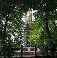 Parcul Copou (gardul spre strada Aurora) (Palatul Oştirii în fundal).jpg