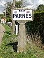 Parnes (60), plaque Michelin, route de Parnes.jpg