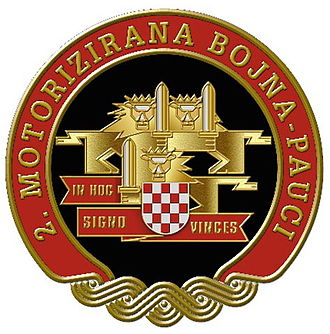 """4th Guards Brigade (Croatia) - Sign of the 2nd Motorized Battalion """"Spiders"""""""