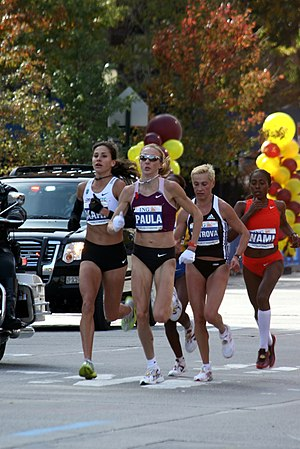 Gete Wami - Gete Wami (right) at the 2008 New York City Marathon