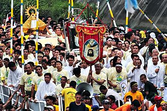 Our Lady of Peñafrancia - Fluvial Procession during Penafrancia Festival on the eve of the feast of Nstra Sra. De Penafrancia.