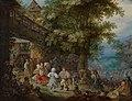 Peasants Dancing outside a Bohemian Inn by Roelant Savery Mauritshuis 1129.jpg
