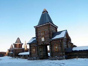 Pechenga Monastery - Entrance to the rebuilt monastery (2014)