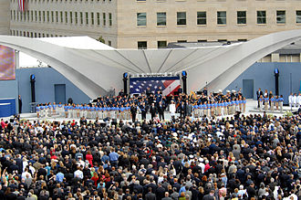 "God Bless America - Singing ""God Bless America"" at the Pentagon memorial dedication, September 11, 2008"