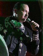 "Dominican American singer Kat DeLuna (left) and Mexican American singer Pepe Aguilar (right) have sang ""No Me Queda Más"" live in their concerts."