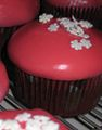Peppermint mocha cupcakes covered in poured fondant.jpg