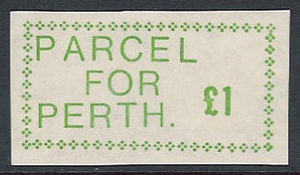 1971 United Kingdom postal workers strike - A £1 stamp from Scotland produced during the 1971 Postal Strike.