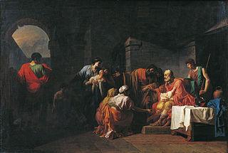 Belisarius modtager gæstfriheden af en bonde, der tjente under hans ordrer