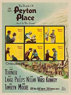<i>Peyton Place</i> (film) 1957 film by Mark Robson