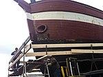 Pga. skibets dybde er det nødvendigt med et stillads omkring skibet for at kunne udføre arbejdet (8447571836).jpg