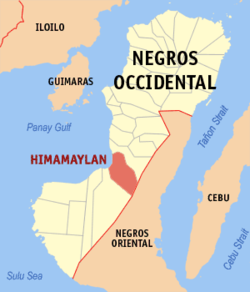 Map of Negros Occidental showing the location of Himamaylan City.
