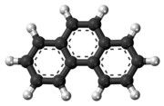 Ball-and-stick model of the phenanthrene molecule