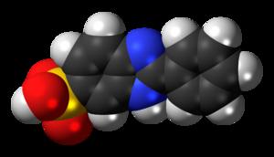 Ensulizole - Image: Phenylbenzimidazole sulfonic acid 3D spacefill