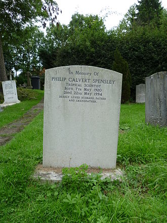 Philip Calvert Spensley - Philip Calvert Spensley grave at St Andrew's church, Totteridge.
